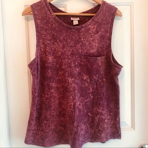 Mossimo Distressed Burnout Tank Top